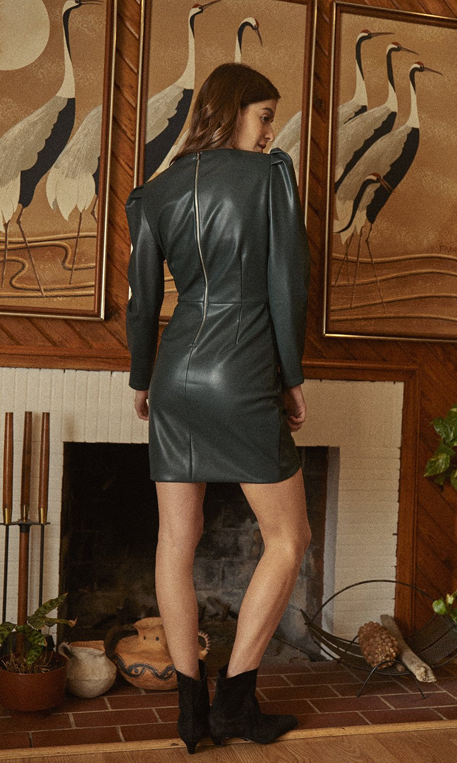 Saylor Tallulah Faux Leather Dress