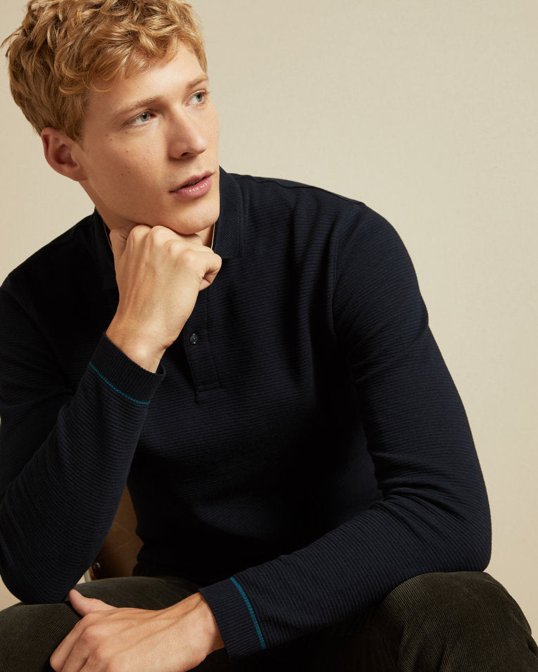 Ted Baker Long Sleeved Polo Shirt