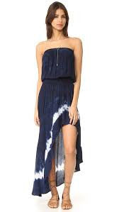 Young Fabulous and Broke Kylie Dress- Indigo Border Wash