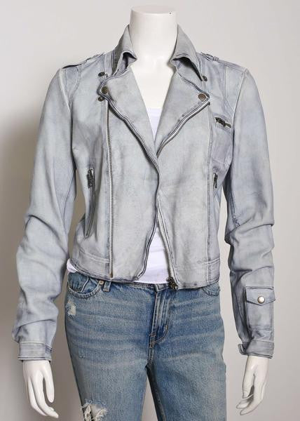Jakett Josey Vintage Suede Jacket in Cloud