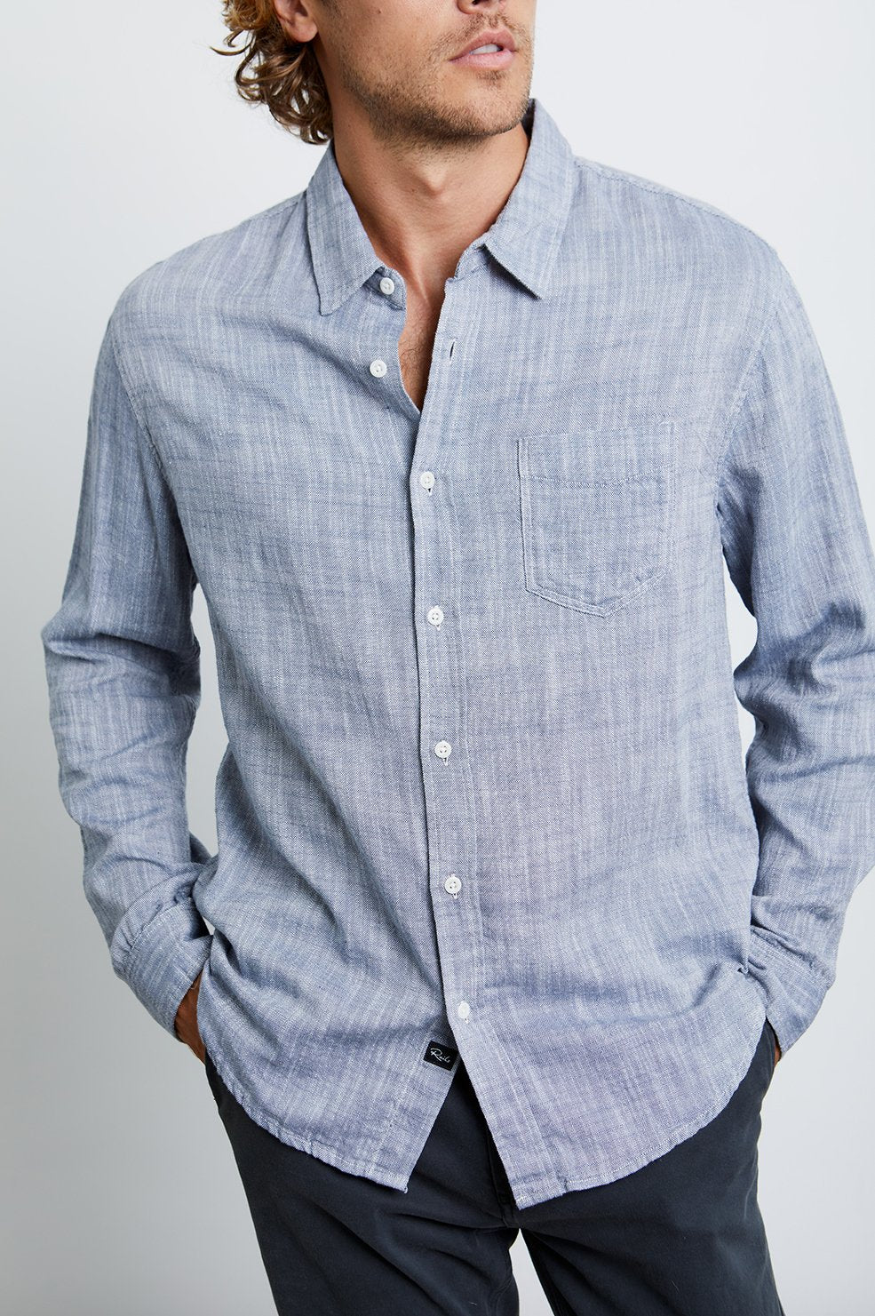 Rails Wyatt Shirt in Navy Chambray