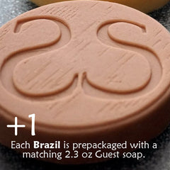Brazil Soap Bar (+ guest soap)   6.3 oz