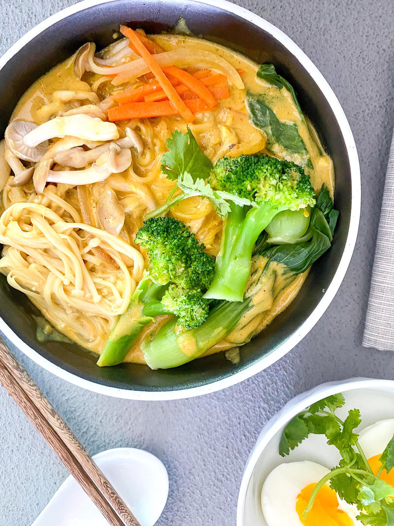 KIRREats: Vegan Yellow Curry Soup Noodle by @Styleinkhk