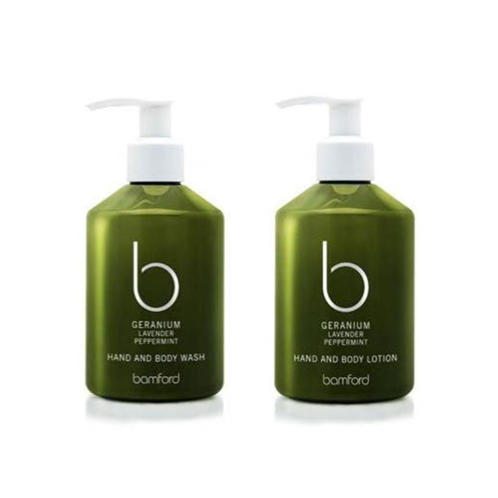 Bamford Bath & Shower Geranium Hand and Body Wash & Lotion Set(250ml)