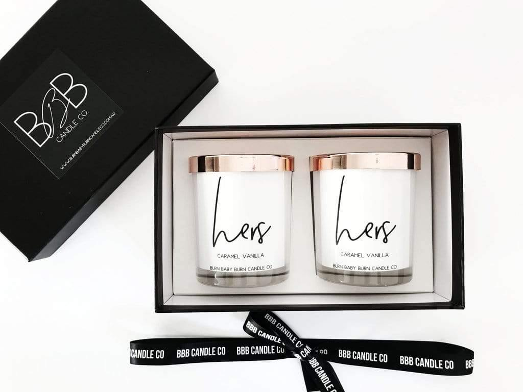 BBB Candle & Co Candles Hers & Hers