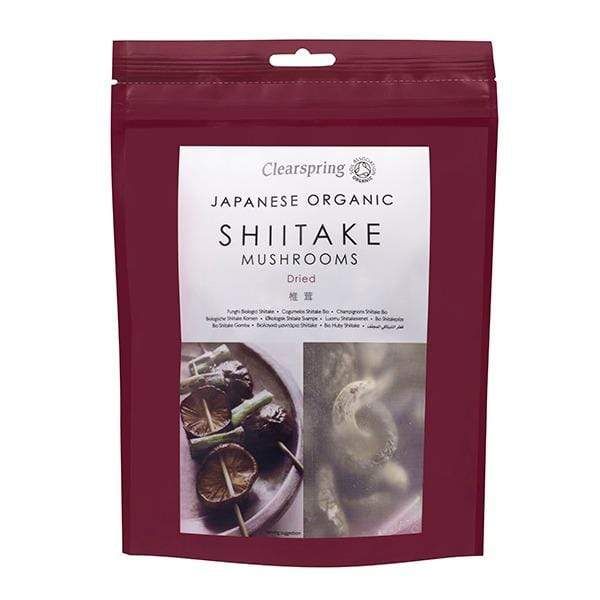 Clearspring Dried Food Organic Japanese Shiitake Mushrooms - Dried (40g)