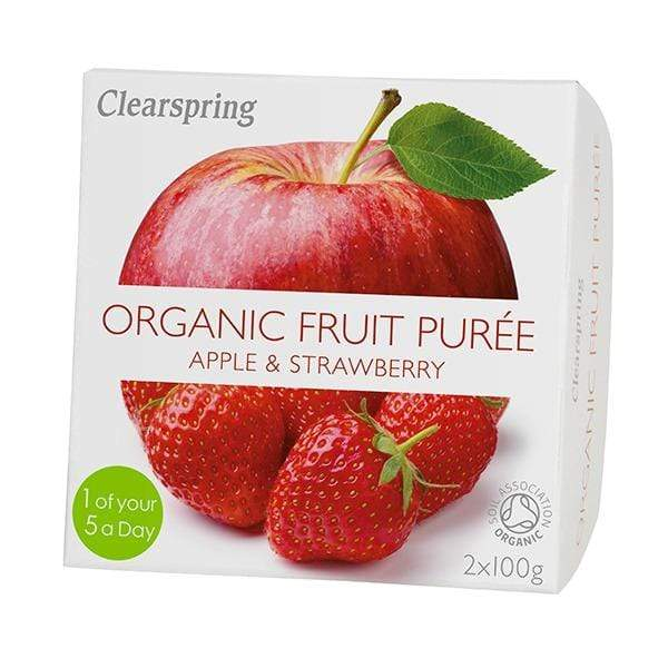 Clearspring Healthy Snacks Organic Fruit Purée (Apple & Strawberry) (200g)