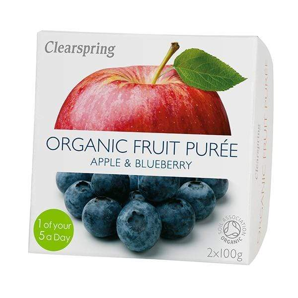 Clearspring Healthy Snacks Organic Fruit Purées (Apple & Blueberry) (200g)