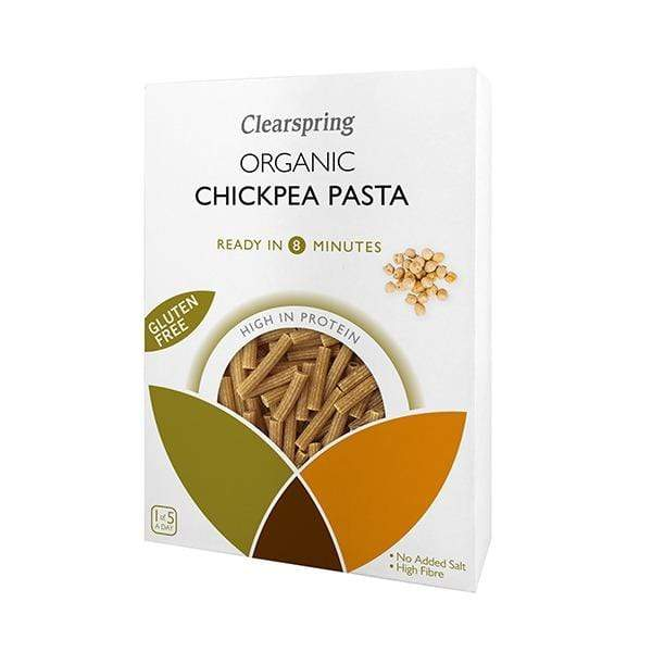 Clearspring Pasta, Rice & Noodles Organic Gluten Free Chickpea Sedanini Pasta (250g)