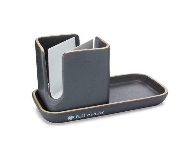 Full Circle Kitchenware Stash Modular Ceramic Sink Caddy (Gray)