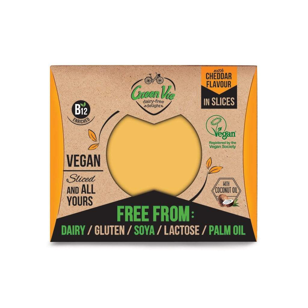 Green Vie Vegan Butter & Cheese Cheddar Flavour Vegan Cheese Slices (180g)