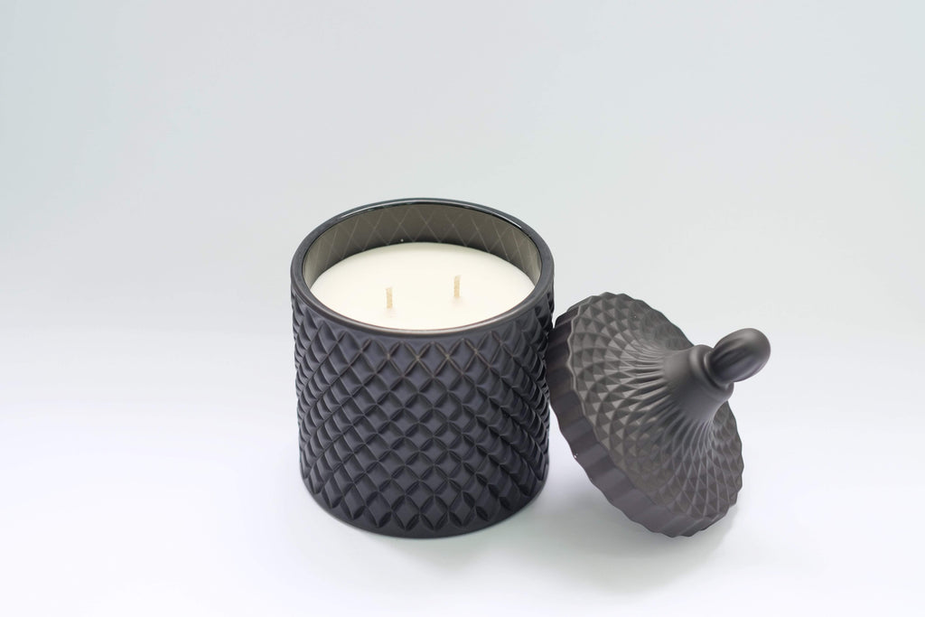 Home Candles Matte Black Geo Jar