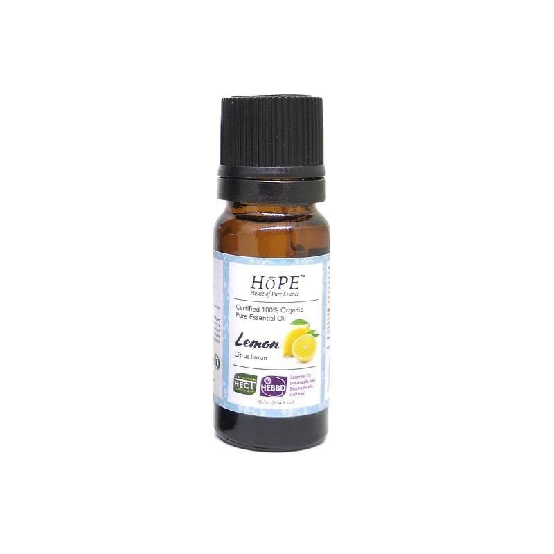 HoPE Aromatherapy Organic Lemon Essential Oil (10ml)