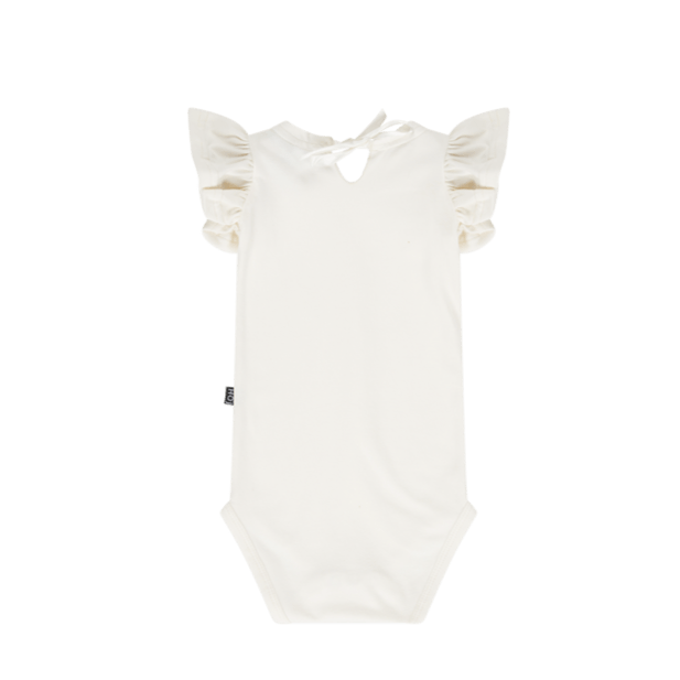 House of Jamie Bodysuits & Sleepsuits Ruffled Bodysuit Cream