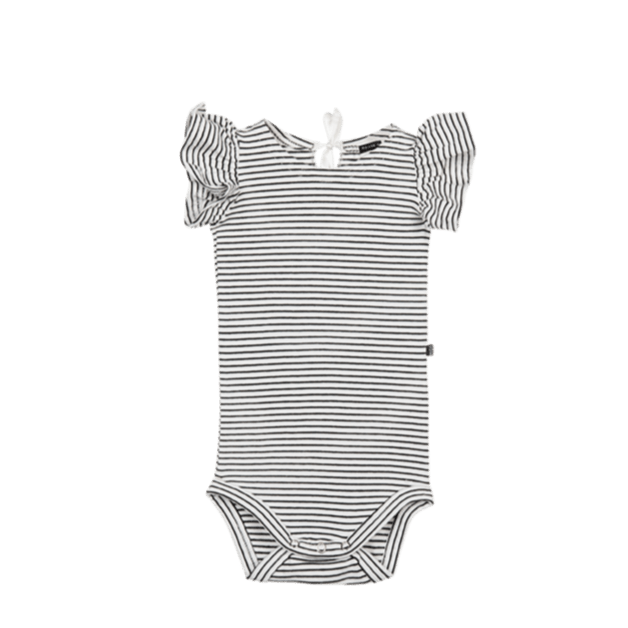 House of Jamie Bodysuits & Sleepsuits Ruffled Bodysuit Little Stripes