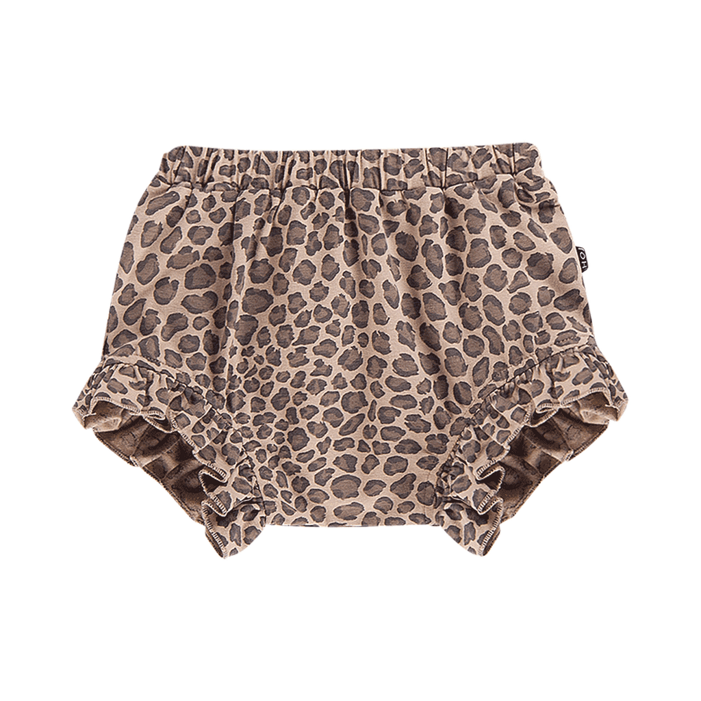 House of Jamie Bottoms Ruffled Shorts Caramel Leopard