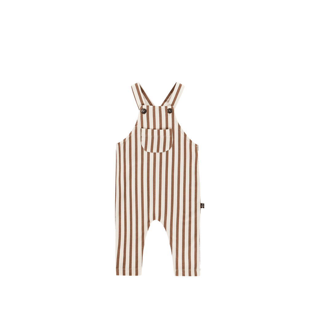 House of Jamie Dresses & Overalls 6-12Y Dungaree Toffee Stripes