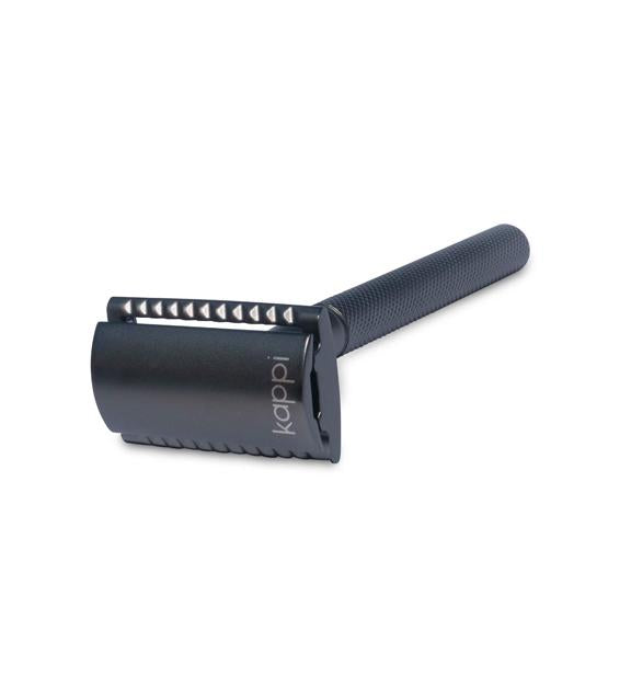 Kappi Shaving Reusable Safety Razor (Matte Black)