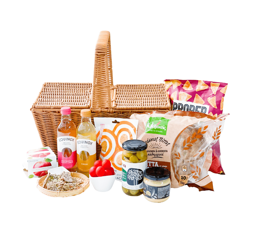 KIRR Food Gift Sets Vegan Mediterranean Picnic Basket For 2