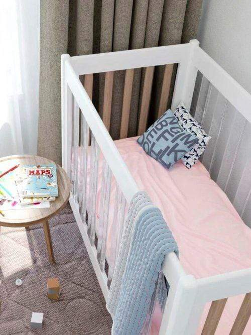 Naked Lab Sleep Bamboo Fitted Cot Sheet (Pia's Pink)