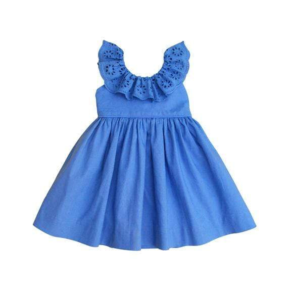 The House of Fox Dresses & Overalls Poppy Dress In Sky Blue