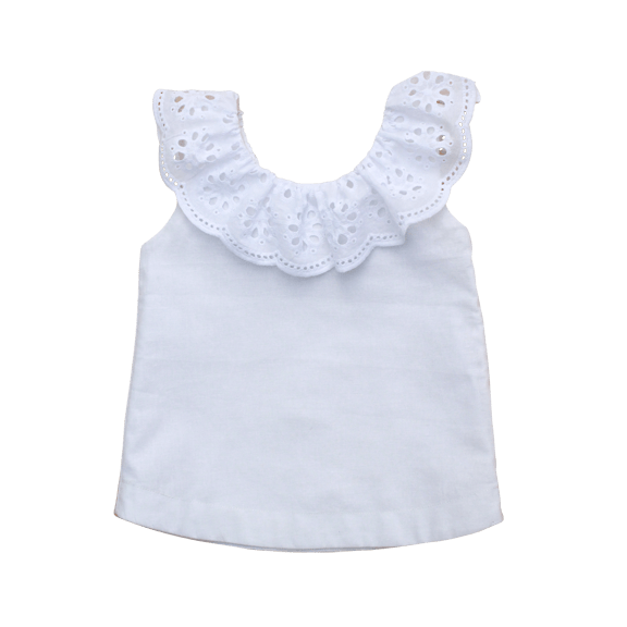 The House of Fox Tops The Poppy Top In French White
