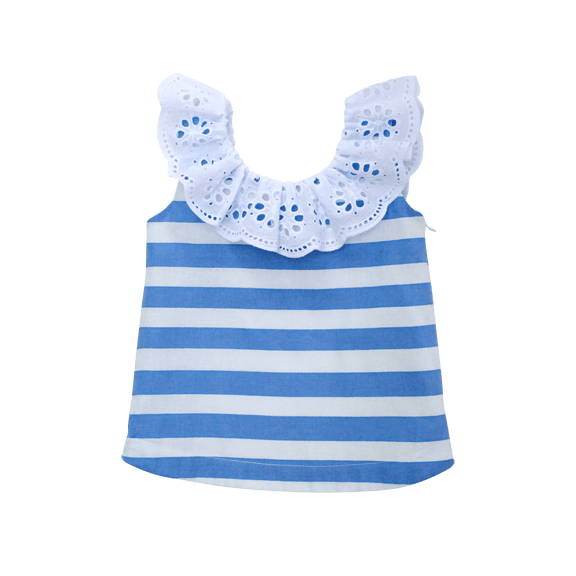 The Poppy Top In Stripe - KIRR