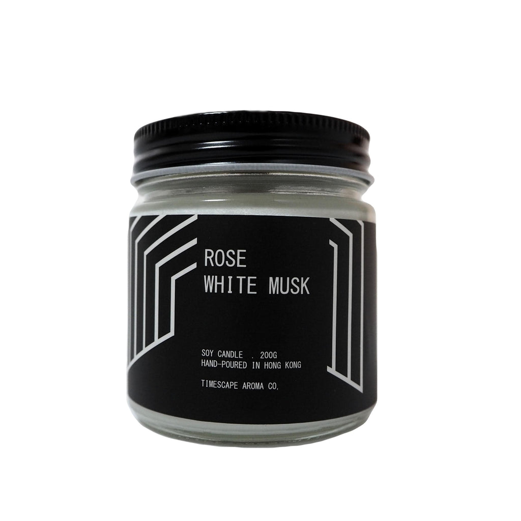 Timescape Aroma Candles Rose & White Musk (woody)