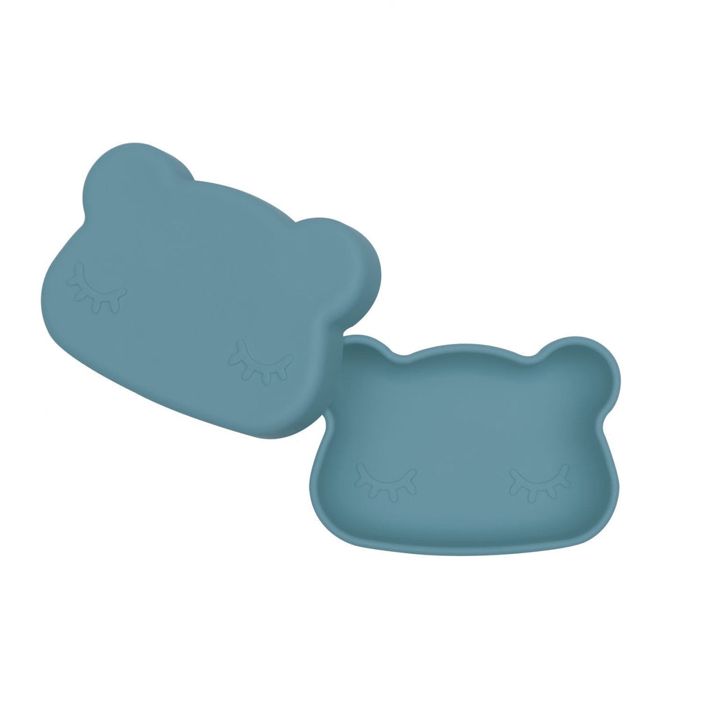 We Might Be Tiny Kid's Tableware Bear Snack Box In Blue Dusk