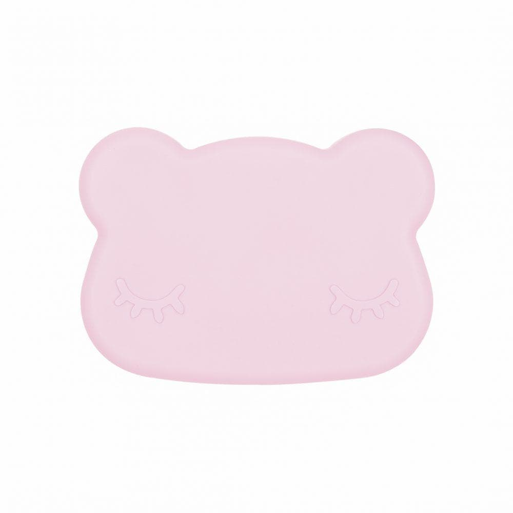 We Might Be Tiny Kid's Tableware Bear Snack Box In Powder Pink