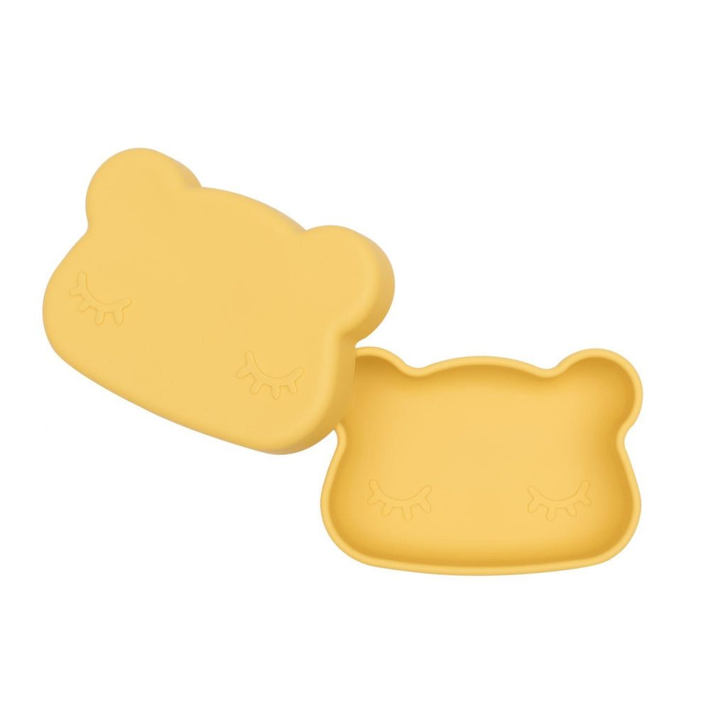 We Might Be Tiny Kid's Tableware Bear Snack Box In Yellow
