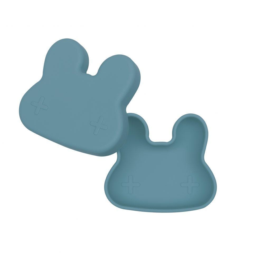 We Might Be Tiny Kid's Tableware Bunny Snackie In Blue Dusk