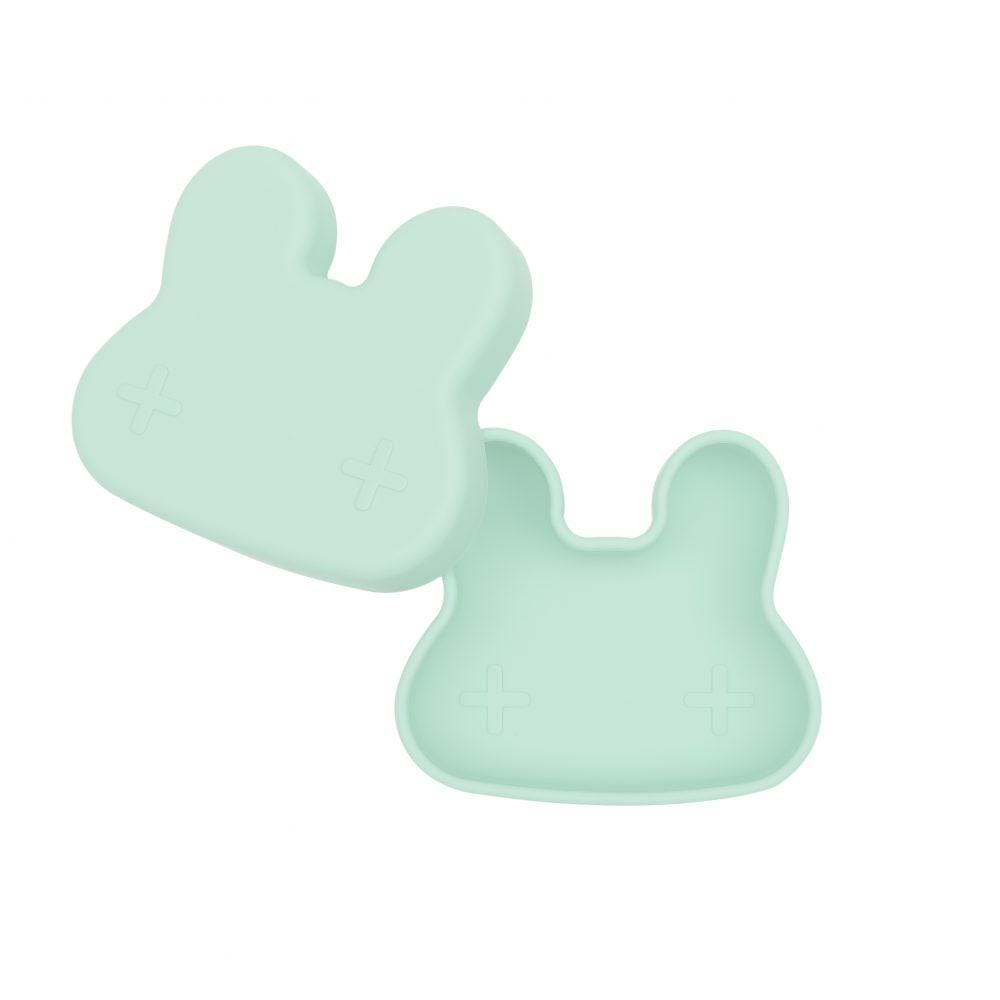 We Might Be Tiny Kid's Tableware Bunny Snackie in Minty Green