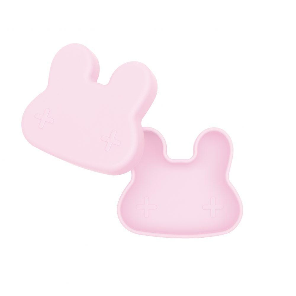 We Might Be Tiny Kid's Tableware Bunny Snackie in Powder Pink