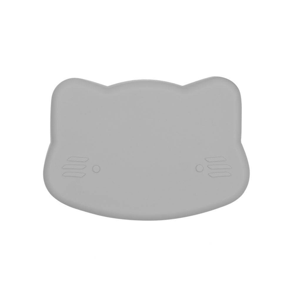 We Might Be Tiny Kid's Tableware Cat Snackie In Light Grey