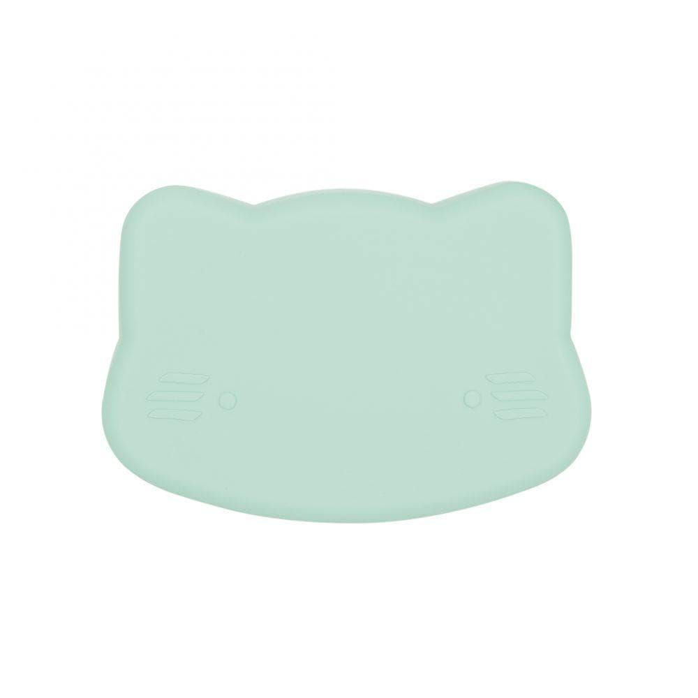 We Might Be Tiny Kid's Tableware Cat Snackie In Minty Green