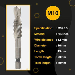 3/6pcs Thread Tap Drill Bits Set