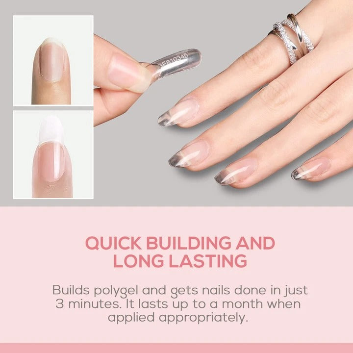 【Last Day Promotion】Easy PolyGel Nail Lengthening Kit