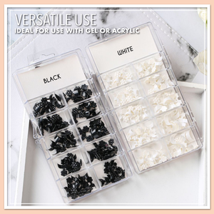 Glue-On French Nail Tips Kit (100 pcs)