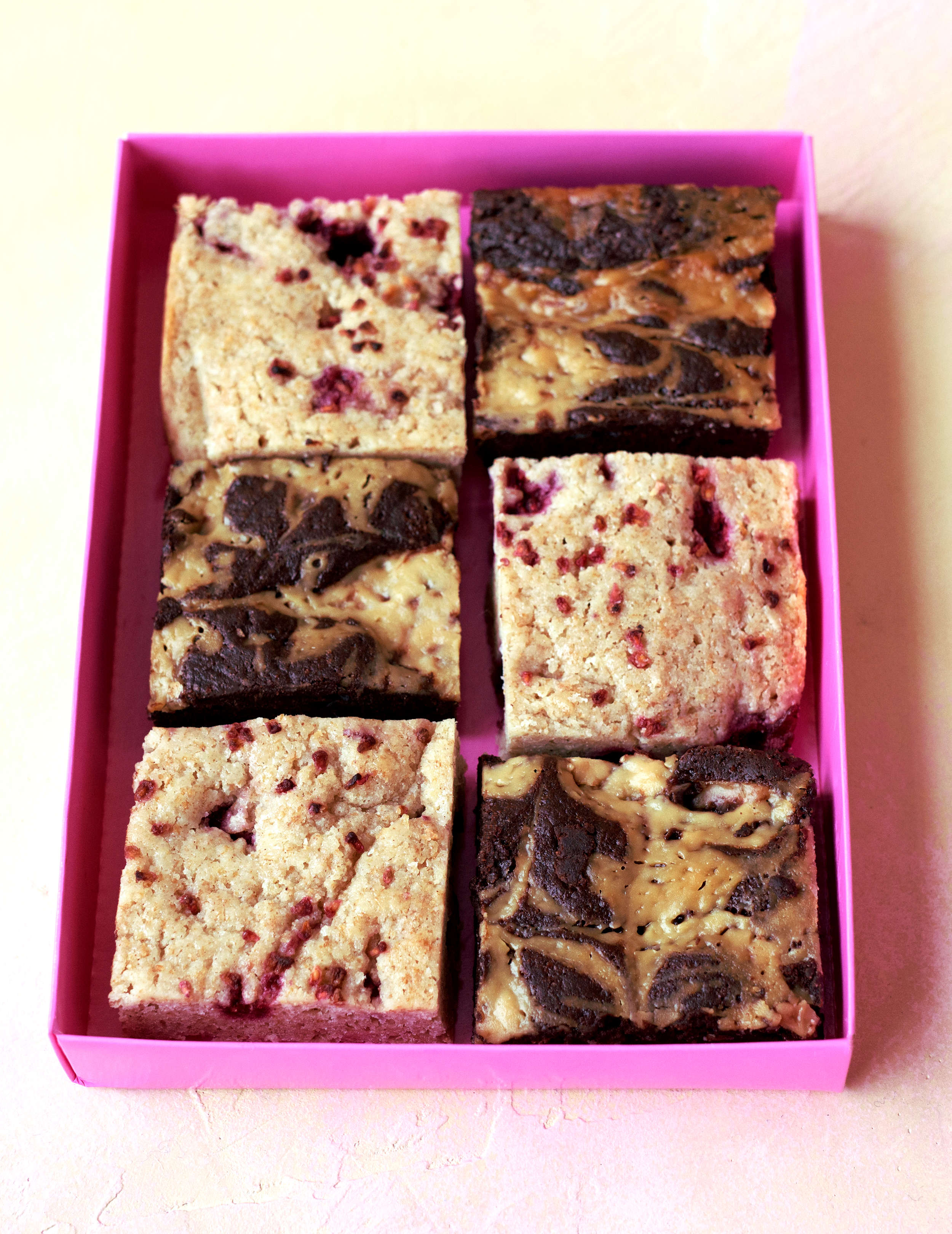Mixed Brownies: Dulche non leche & raspberry blondies