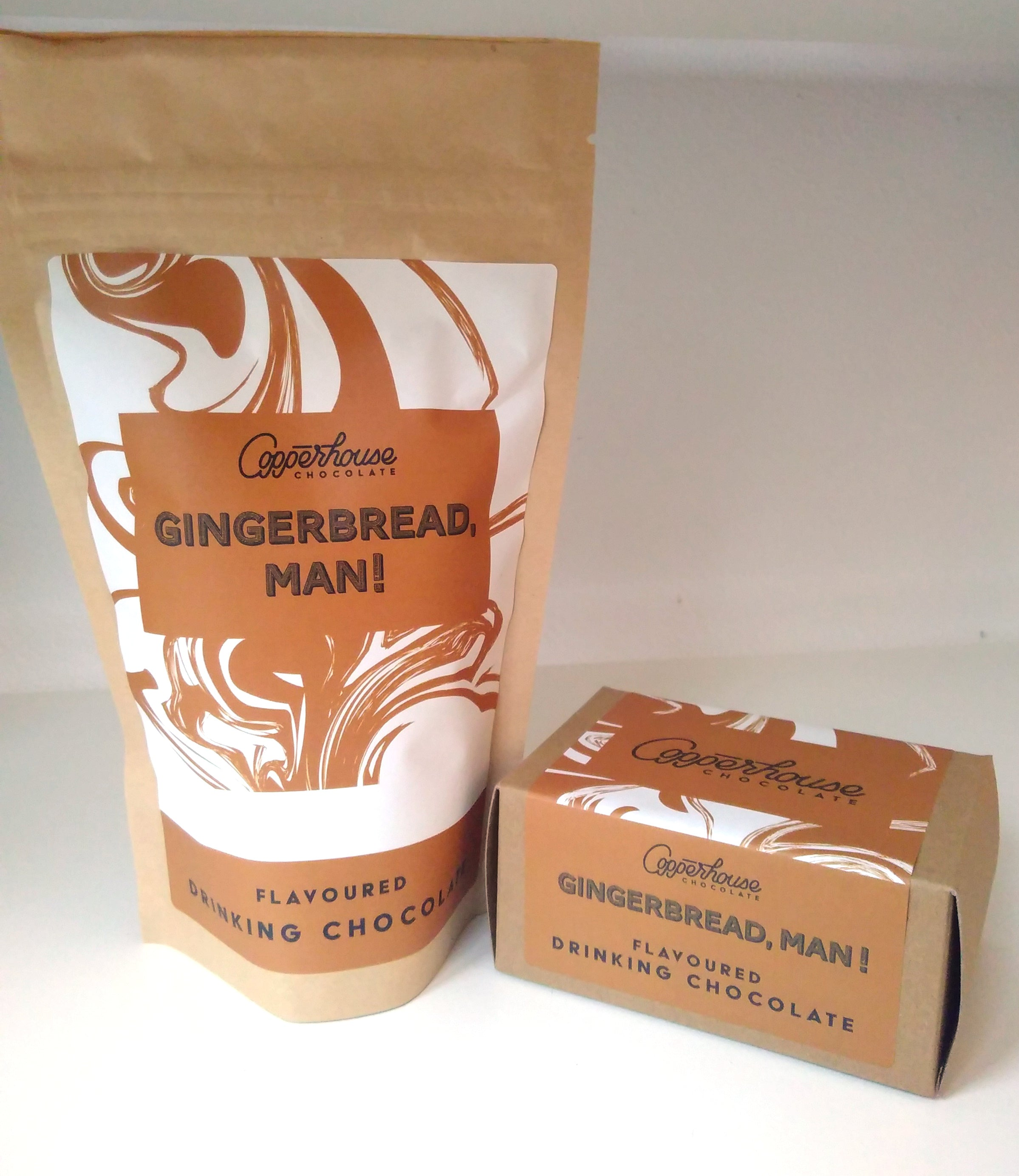 Gingerbread, man! flavoured drinking chocolate