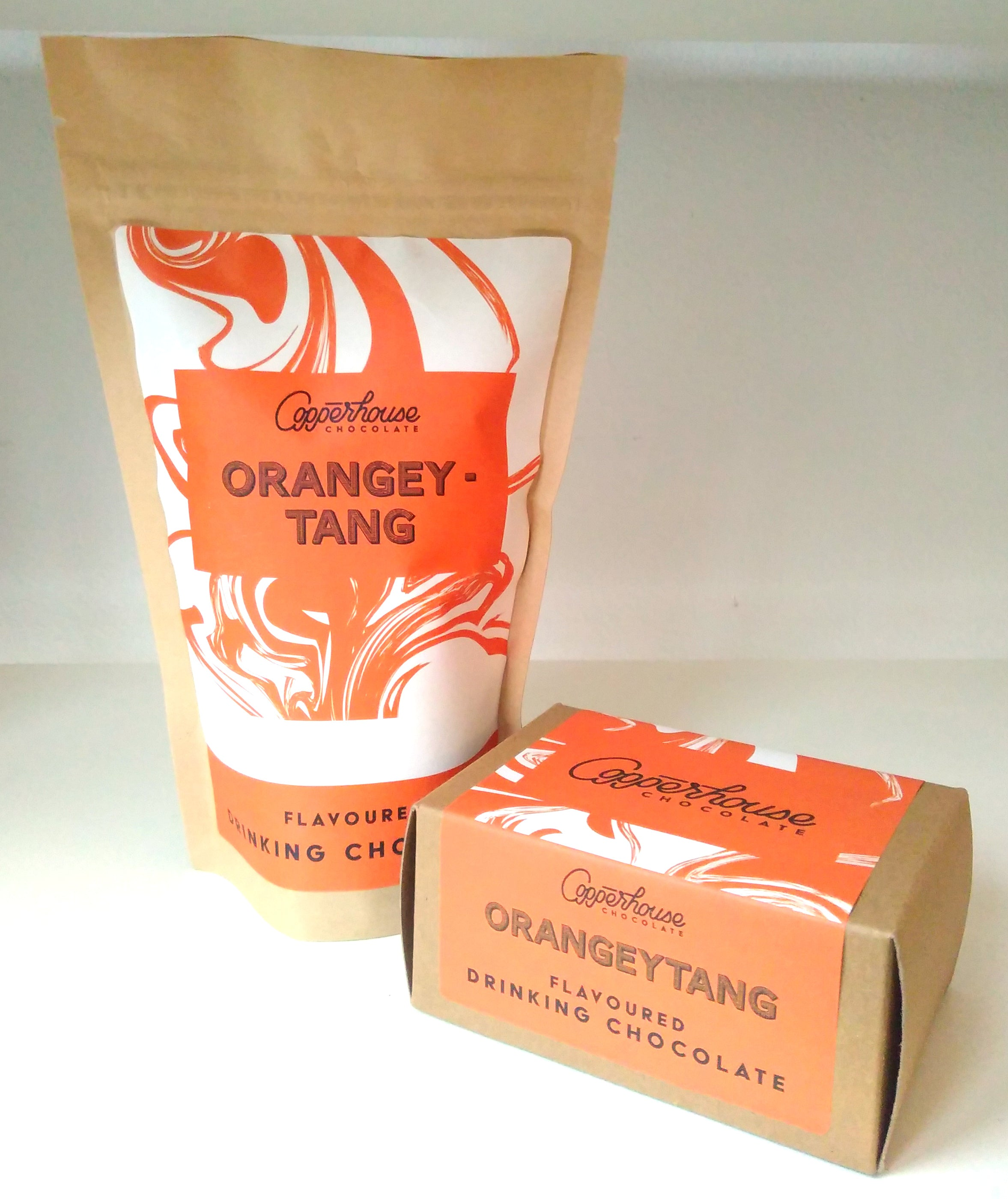 Orangeytang - orange flavoured drinking chocolate
