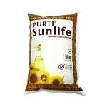 Purti Refined Sunflower Oil Pouch 1 LTR
