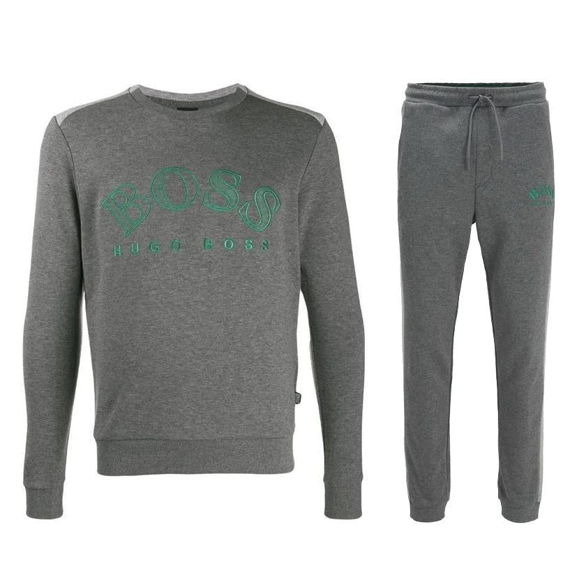 Hugo Boss-SALBO TRACKSUIT SET-GREY / GREEN