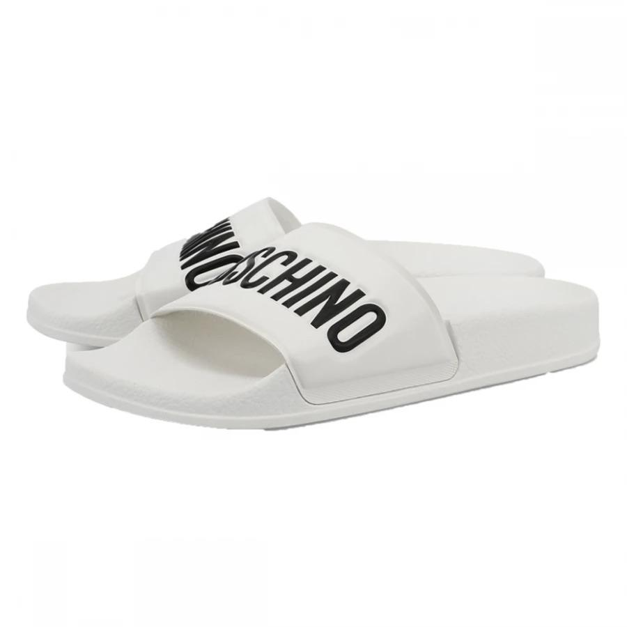 MOSCHINO POOL SLIDERS - WHITE