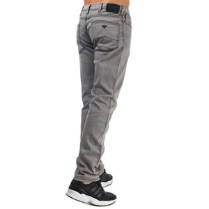 Emporio Armani-J06 Denim Washed Nero Jeans Slimfit