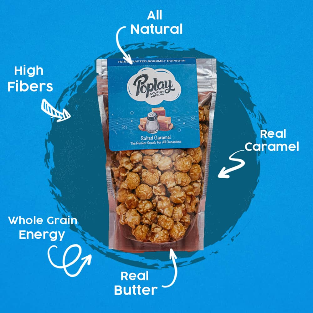 Poplay Slated Caramel Gourmet Popcorn Pack