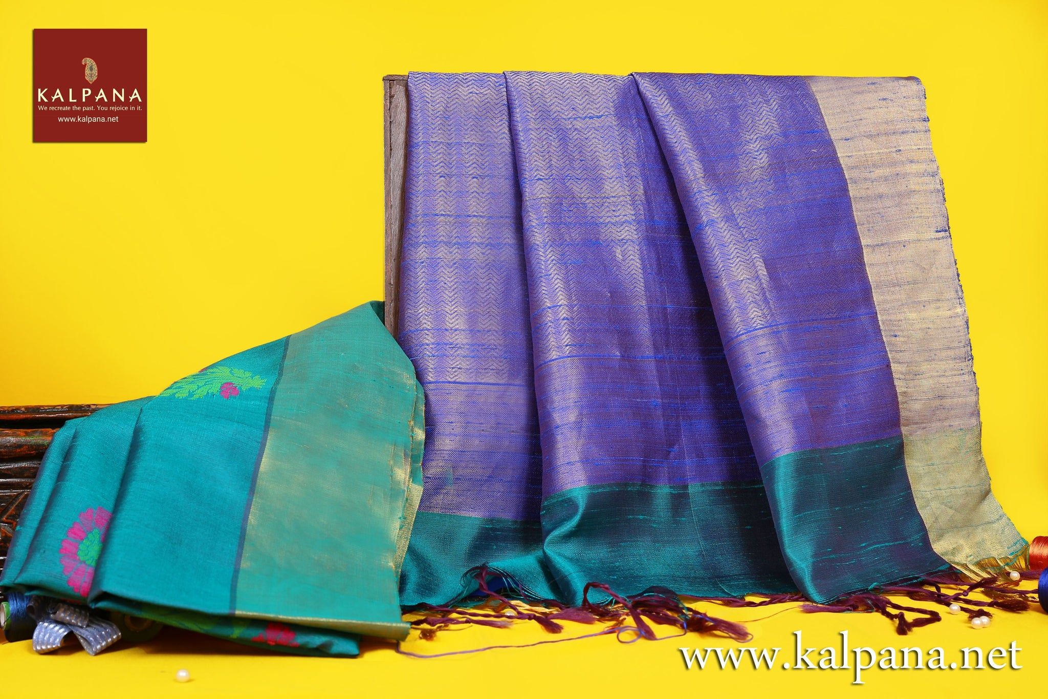 Bangalore Handloom Pure Dupion Saree with All Over Plain and Woven Zari Border. The Palla is  Woven Zari. It comes with Contrast Colored Plain Unstitched Blouse with Zari Border. Perfect for Multi Occasion Wear.  Recommended for Autumn & Winter season(s). Dry Clean Only