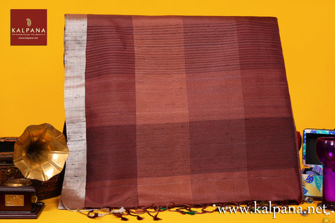 Coimbatore Handloom Pure Silk Saree with All Over Self Checks and Woven Zari Border. The Palla is  Woven. It comes with Self Colored Woven Unstitched Blouse with Woven Border. Perfect for Multi Occasion Wear.  Recommended for All season(s). Dry Clean Only