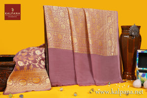 Georgette Handloom Pure Georgette Saree with All Over Jaal and Woven Zari Border. The Palla is  Woven Zari. It comes with Self Colored Plain Unstitched Blouse with Woven Border. Perfect for Formal Wear.  Recommended for all season(s). Dry Clean Only